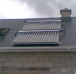 Two panel on roof CPC Solar System with 400 litre solar cylinder